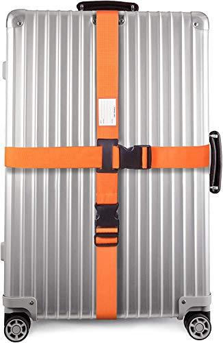 Cinghia per Valigia Croce con Cinghie per Bagagli Pesanti - Cintura Valigia Personalizzata per Identificare la Valigia - Accessori Viaggio Utili - Cinghia Valigia Croce - Cinghie per Valigie