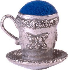 Review Wentworth Pewter - Tea Cup Pewter Pin Cushion - 30mm x 25mm