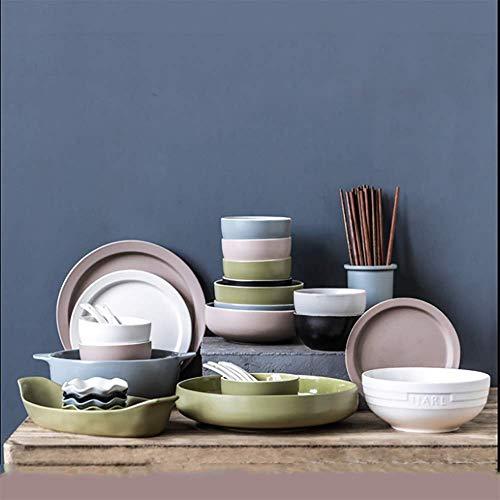Juego de vajilla de cerámica CAIZHE, 35 cabezales, juego de cubiertos de gres para el hogar, juego de cubiertos de gres para cumpleaños, banquetes, cenas, utensilios de cocina y porcelana