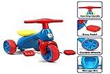 JHUEN Baby Balance Bike, Plastica per Bambini Triciclo Walker con Pedali 3 Ruote da Corsa Equilibrio Bicicletta Walker per Bambini da 1,5-3 Anni 18-36 Mesi Ragazzi Ragazze