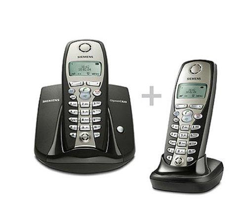 Siemens Gigaset C320 Duo graphit, schnurlos Telefon DECT mit zusätzlichem Mobilteil