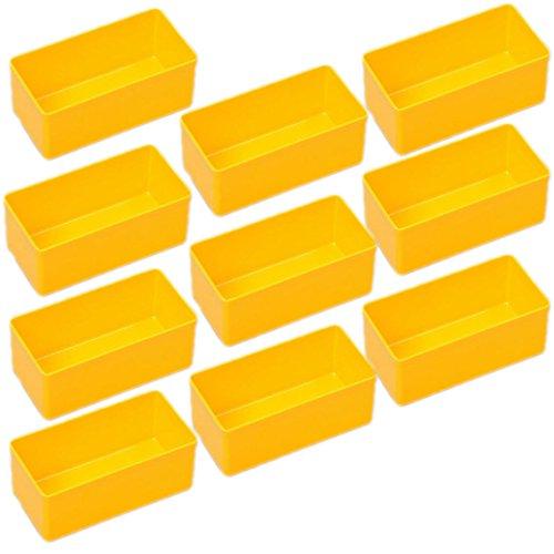 Allit EuroPlus 10 Einsatzboxen Insert 45/1 45/2 45/3 45/4 45/5 Industrienorm (Gr. 2 Gelb)