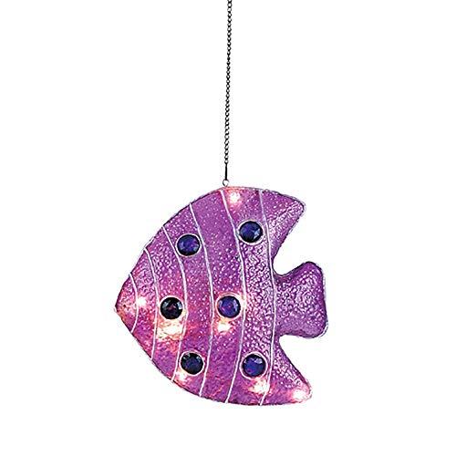 Dapo Dekorations-Leuchte Fisch lila Fiberglas-Hänge-Decken-Kinder-Leuchte Party-Disco-Geburtstags-Leuchte