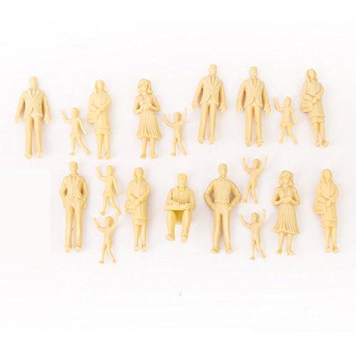 Veroda 1: 25 Scale Model Figuren Zug Passagiere Modellierung Set Unlackierte Hautfarbe Packung von 20