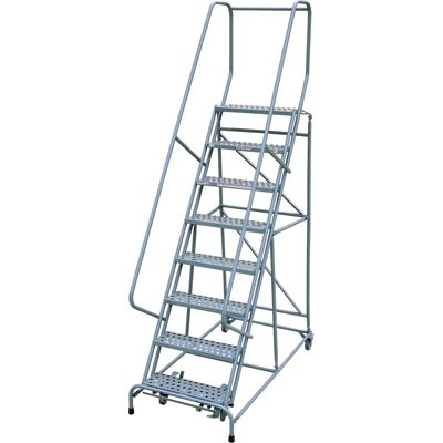 Cotterman Rolling Steel Ladder - 450-Lb. Capacity, 8-Step Ladder, 80in.H Platform, Model Number 1008R2632A1E20B4C1P6