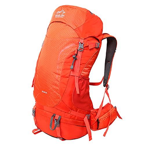 HOUJIA Mochila de Senderismo 50L Mochila de montañismo Mochila de Senderismo,Mochila de Escalada para Camping Deportes Montañismo Trekking Camping al Aire Libre