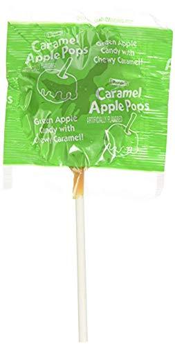 Tootsie Caramel Apple Pops Green Apple Caramel Lollipop Pack of 6
