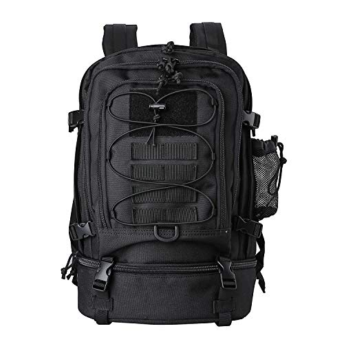 Procase Tactical Backpacks for Men, 30L Hiking Daypack Large Military MOLLE Backpack for Camping, Hunting, Trekking, Military Traveling -Black