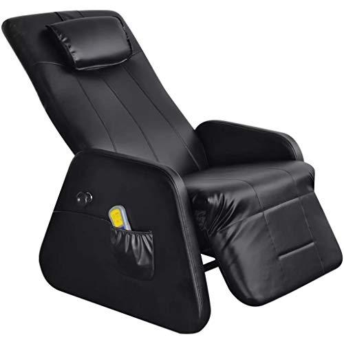 binzhoueushopping sillón de Masaje gravedad cero eléctrica de piel Artificial negra diseño cómodo, Moderno, cómodo y resistente sillón de Masaje