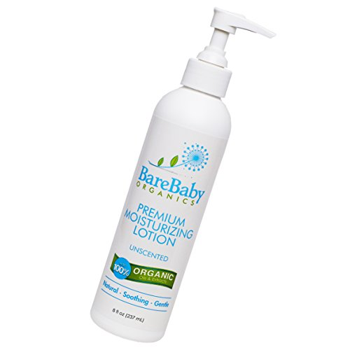 Organic Baby Lotion  For Normal, Dry or Sensitive Skin  No Added Fragrances - Eczema Friendly Moisturizer  With Aloe Vera, Coconut Oil, Shea Butter  Gluten Free  8oz