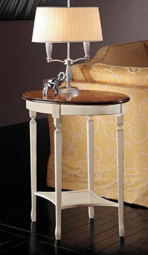 Legno&Design Table basse ovale en cerisier massif avec plateau poussoir.