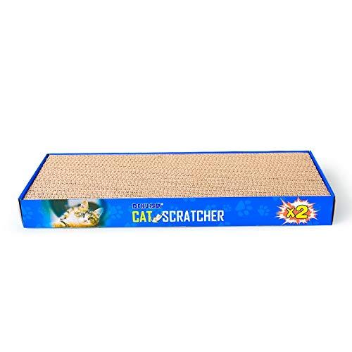 Luoshan CP-047 2 in 1 Rechteck Flachbett Geformt Wellpappe Katzenkratzbrett Katzenkratzer Spielzeug