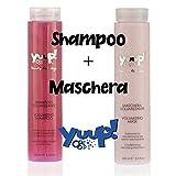 Yuup!® Kit Shampoo Volumizzante 250ML e Maschera Volumizzante 250ML per Cani, Kit Ideale per Tutte Le Razze a Pelo Riccio o Liscio, Dona Volume e Leggerezza