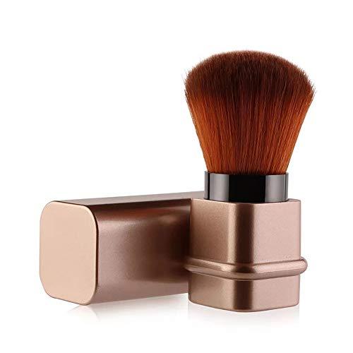 Pennello Kabuki retrattile, Pennello fard per applicare la cipria in movimento, Blush brush (d'oro)