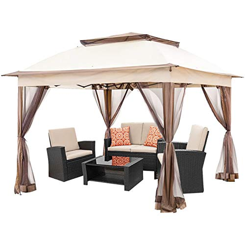 Hrooarem 11x11FT Outdoor Pop Up Gazebo Canopy Tent...