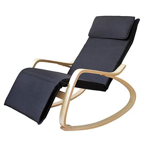 WGFGXQ Mecedora Chair Mecedora de Madera Mecedora Tumbona Mecedora Relajante Sillón reclinable con...