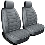 2 Front Car Seat Covers Fit for Beetle Pathfinder Altima Frontier Maxima Xterra Murano Baja Impreza Outback Crosstrek (2 PCS Front, Gray) -  LUCKYMAN CLUB
