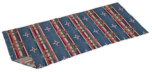 キャプテンスタッグ(CAPTAIN STAG) ラグ レジャーシート マット ラグマット オルテガ ラグ 96×240cm 収納袋付き ターコイズブルー UP-2648