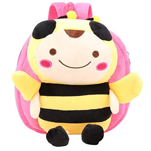YIFengFurun Mochila de dibujos animados escolar de dibujos animados de peluche de abeja niños mochila Kindergarten moda pequeña mochila