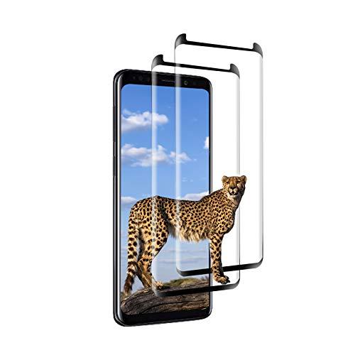 [2 Pièces] Verre Trempé pour Samsung Galaxy S8 Plus, [3D Couverture Complète] [Dureté 9H] [sans Bulles] [Ultra Claire] [Anti-Rayures] [Anti-Huile] Protecteur d'Écran pour Samsung S8 Plus (Noir)