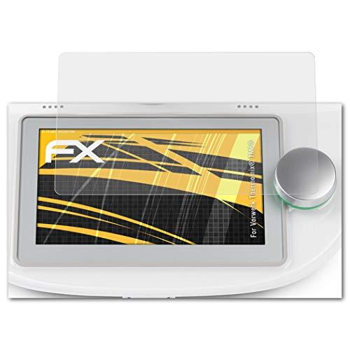 atFoliX Panzerfolie passend für Vorwerk Thermomix® TM6®, Schutzfolie entspiegelnde und stoßdämpfende FX Folie (2X)