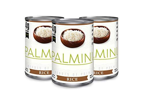 NEU!! Palmini Low Carb Reis| 4g Kohlenhydrate | Bekannt aus Shark Tank | Glutenfrei | (400g - 3er Pack)