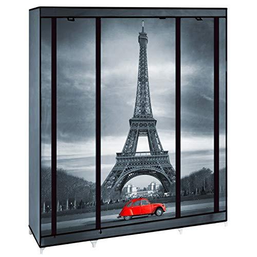 IDMarket - Armoire de rangement Paris dressing penderie XXL tissu