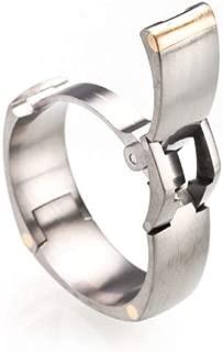 TG-2: Toggle-Pull Hinged Titanium Wedding Ring
