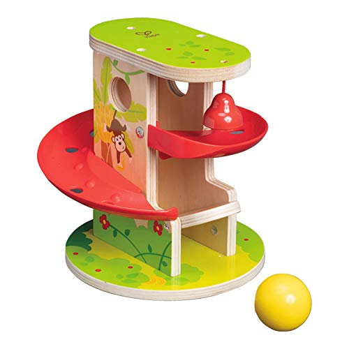 Hape E0508 Jungle Press and Slide - Wooden Toy for Toddlers
