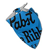 パブストブルーリボンビールのロゴ パーソナライズされた装飾、家で食べやすい、快適で ファッショナブルなペットのスカーフでお出かけください
