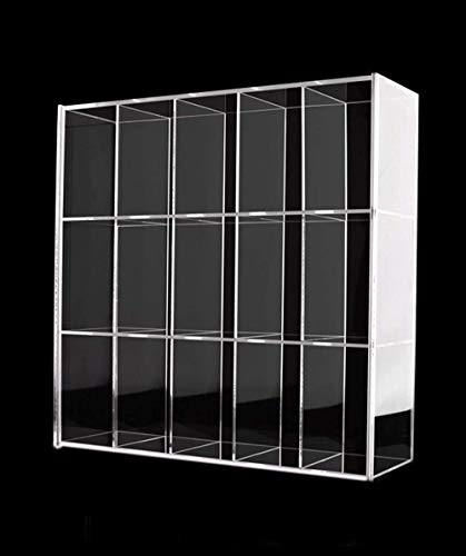ELEpure Exhibidor de Escalera de acrílico de 3 Niveles, Organizador de Estante de Escalera Transparente, decoración Coleccionable para exhibición de Figuras (Vitrina montada 28 cm x 7,5 cm x 26,7 cm)