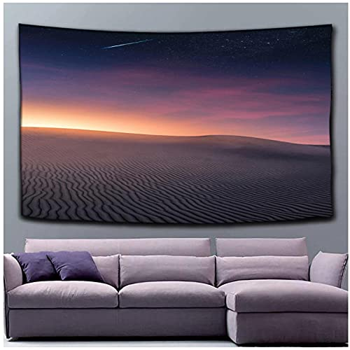 KBIASD Paisaje del Desierto Colgante de Pared Poliéster Puesta de Sol Impreso Tapiz de Pared Patrón de Cielo Colorido Tapiz Colgante para Dormitorio 200x150cm