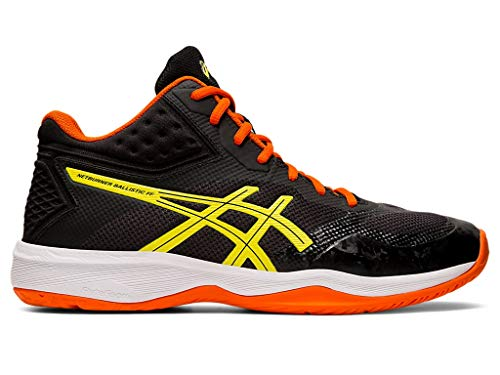 ASICS Men's Netburner Ballistic FF MT Volleyball Shoes, 15M, BlackSour Yuzu