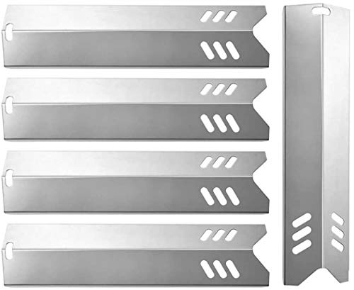 "BBQration 15"" SSN159A Stainless Steel Heat Shields Plates Replacement Parts for Backyard BY13-101-001-13, BY16-101-003-01, Dyna-Glo DGF510SBP, Uniflame GBC1059WB, Better Homes & Gardens and More"