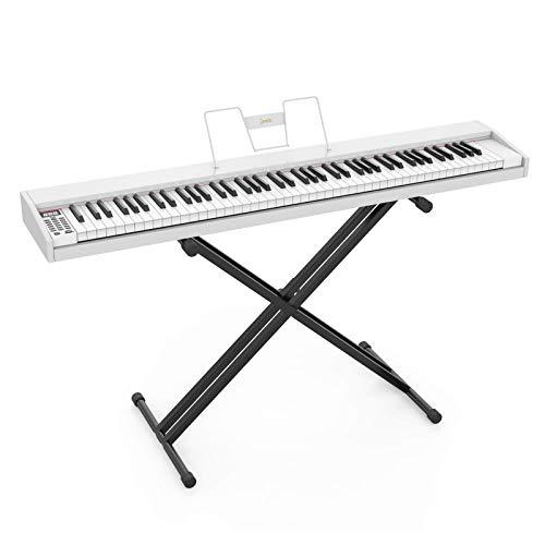LAGRIMA LAG-610 Full Size Key Portable Digital Piano, 88 Key Electric...