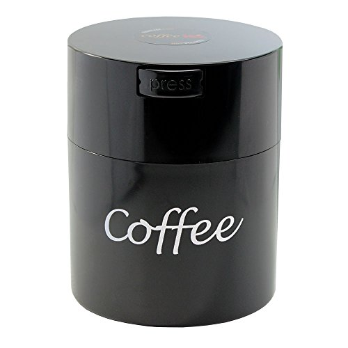 Coffeevac CFV1-SBKC The Ultimate Vacuum Sealed Coffee Container, Black Logo