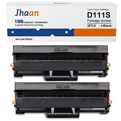 Jhaan MLT-D111S MLTD111S Toner Compatibile per Samsung MLT-D111S D111S 111S MLT-D111L per Xpress M2026W M2026 SL-M2070 SL-M2070W SL-M2070F SL-M2070FW M2020W M2020 M2022 M2022W (Nero, 2-Pack)