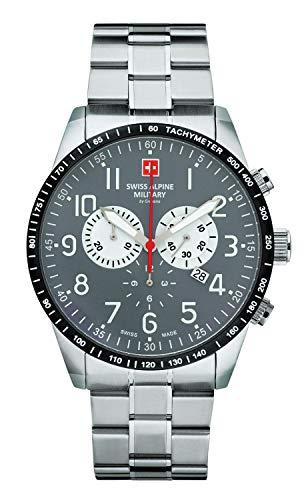 Swiss Alpine Military by Grovana Herrenuhr Chrono 10 ATM Grey 7082.9138SAM