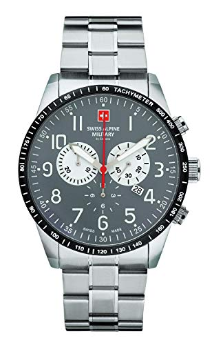 Swiss Alpine Military by Grovana Herrenuhr Chrono 10 ATM Grey 7082.9138SAM
