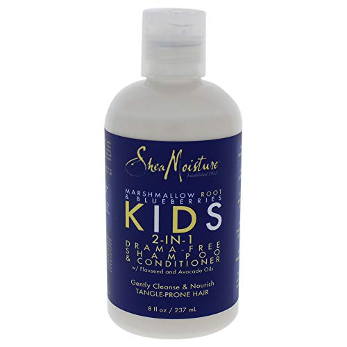 Shea Moisture Marshmallow Root and Blueberries Kids 2-In-1 Shampoo and Conditioner for Kids 8 oz Shampoo and Conditioner