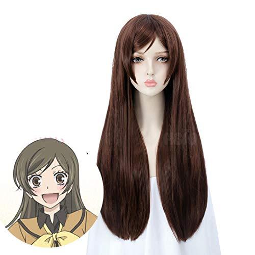 KamisamaLove Kiss cosplay Momozono Nanami cosplay wig brown long straight daily sweet wig Fiber synthetic Hair