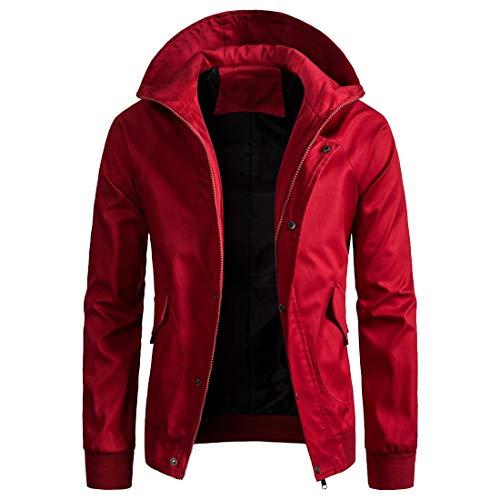 Men's Jacket Mens Fashion Casual Plain Full-Zip Design Hoodies Classic Comfy Heavyweight Sport Hoodie Sweatshirt Long Sleeve Loose Hoody Spring Autumn Winter Warm Lined Tops XL
