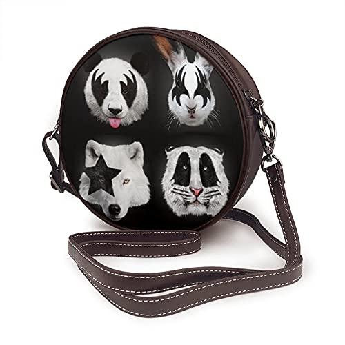 Sac à bandoulière pour femme, sac à bandoulière, sac latéral, sac à bandoulière pour vacances, voyage, été, sac à bandoulière en forme de cercle, sac à bandoulière baiser des animaux