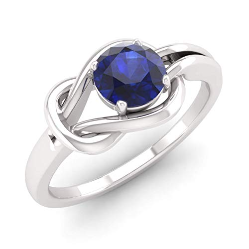 Diamondere Natural and Certified Sapphire Solitaire...