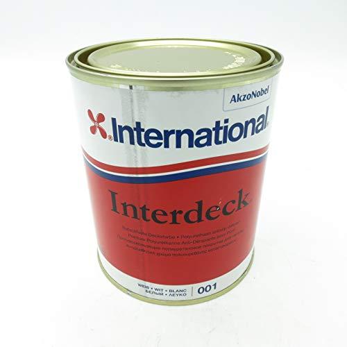 International Interdeck / Rutschfeste farbe | Weiß | 750ML | Seidenglanz, für alle Oberflächen