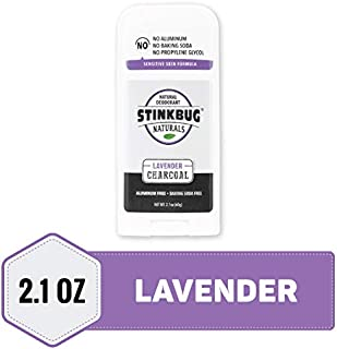 Natural Organic Deodorant Stick with Lavender, Coconut Oil and Activated Charcoal, Aluminum Free Deodorant by Stinkbug Naturals, 2.1 Ounce