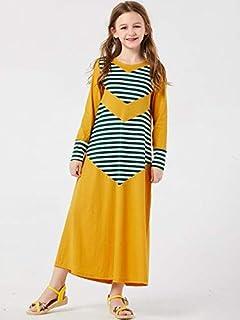 Islamic Clothing - Casual Girls Abaya Striped Maxi Dress Hijab Children's Wear Family Matching Outfits Kimono Long Robes E...