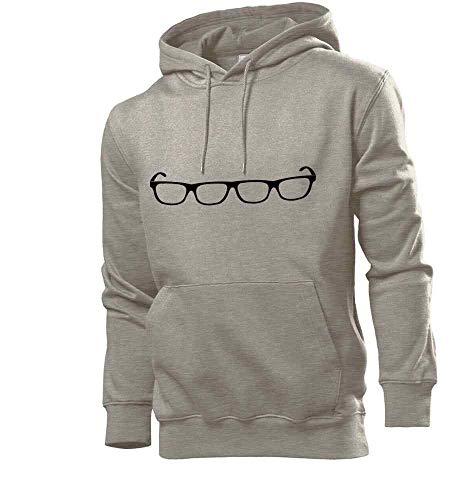 Generisch shirt84.de - Sudadera con capucha para hombre, diseño con texto en alemán 'Vieraugen Brille gris XXL