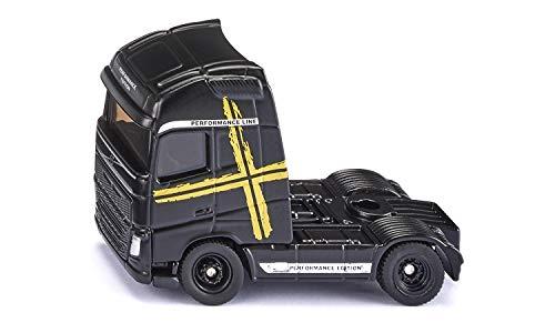 siku 1543, Volvo FH16 Performance Zugmaschine, Schwarz, Metall/Kunststoff, Bereifung aus Gummi, Kombinierbar mit siku Aufliegern im Maßstab 1:87