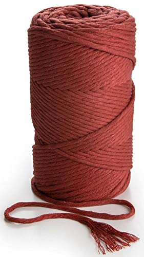 MB Cordas Bordo Macrame Cord 3mm Single Twist Cotton String 459 feet Soft Rope for Handmade Plant Hangers Wall Decorations Craft Making and DIY Projects